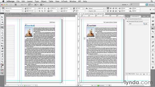 Synchronizing text: Creating Long Documents with InDesign