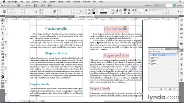 Using Based On styles: Creating Long Documents with InDesign
