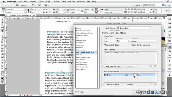 Using nested styles: Creating Long Documents with InDesign