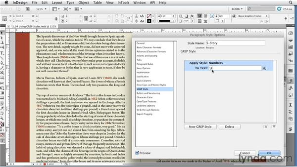 Using GREP styles: Creating Long Documents with InDesign