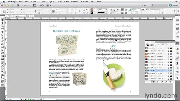 Using swatches: Creating Long Documents with InDesign