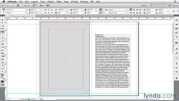 Using Quick Apply: Creating Long Documents with InDesign