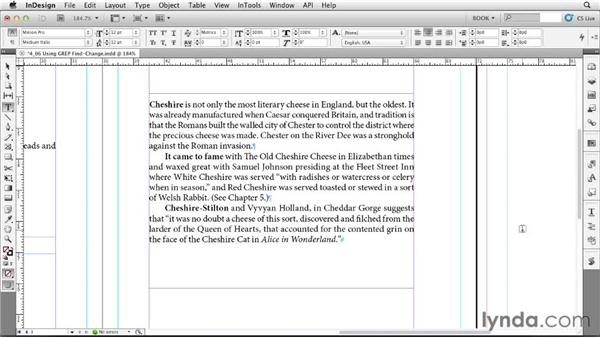 Using GREP Find/Change: Creating Long Documents with InDesign