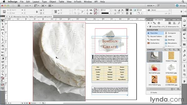 Alternative uses for the TOC feature: Creating Long Documents with InDesign