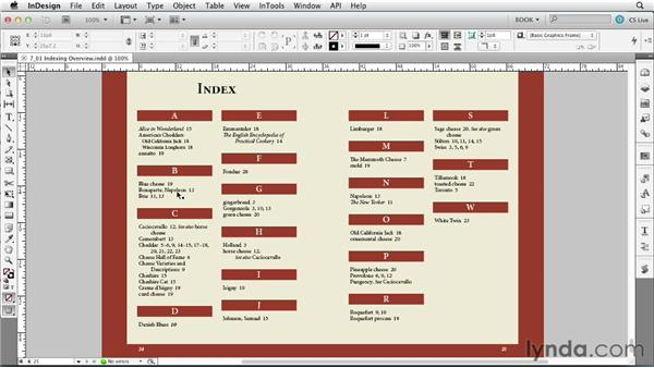 Scoping out the index: Creating Long Documents with InDesign