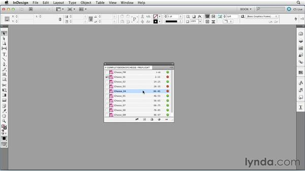 Preflighting book documents: Creating Long Documents with InDesign