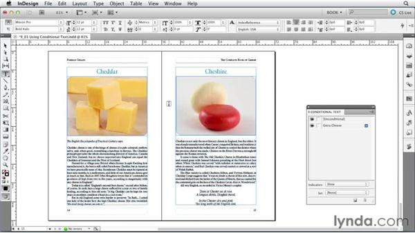 Using conditional text: Creating Long Documents with InDesign