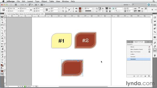Using object styles for customization: Creating Long Documents with InDesign