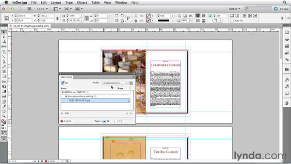 Preflighting documents: Creating Long Documents with InDesign