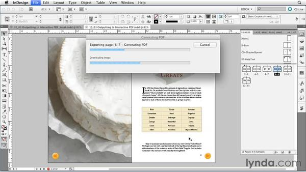 Exporting to interactive PDF: Creating Long Documents with InDesign