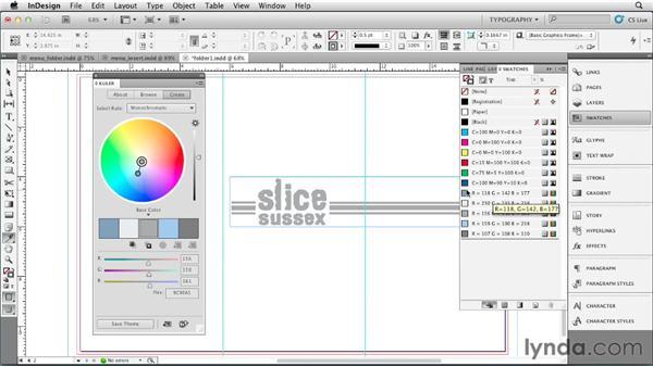 Choosing a color palette: Designing a Restaurant Menu