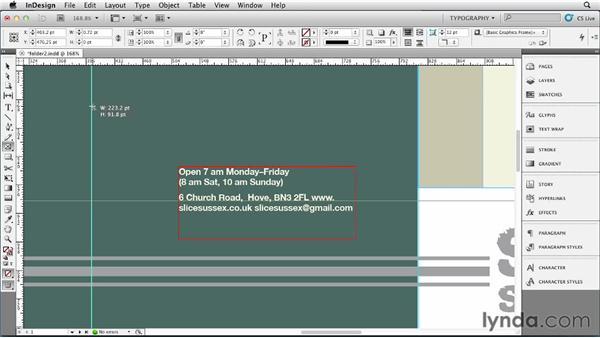 Adding text and design elements: Designing a Restaurant Menu