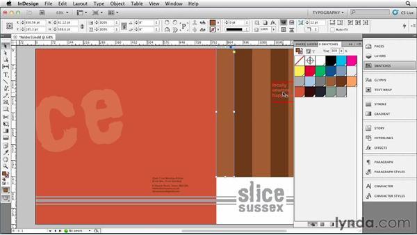 Trying an alternative color scheme: Designing a Restaurant Menu