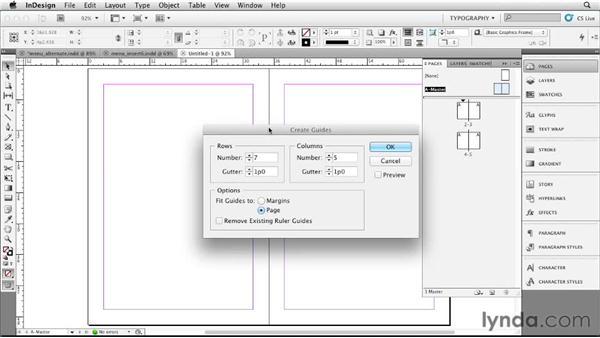 Setting up a four-panel card: Designing a Restaurant Menu