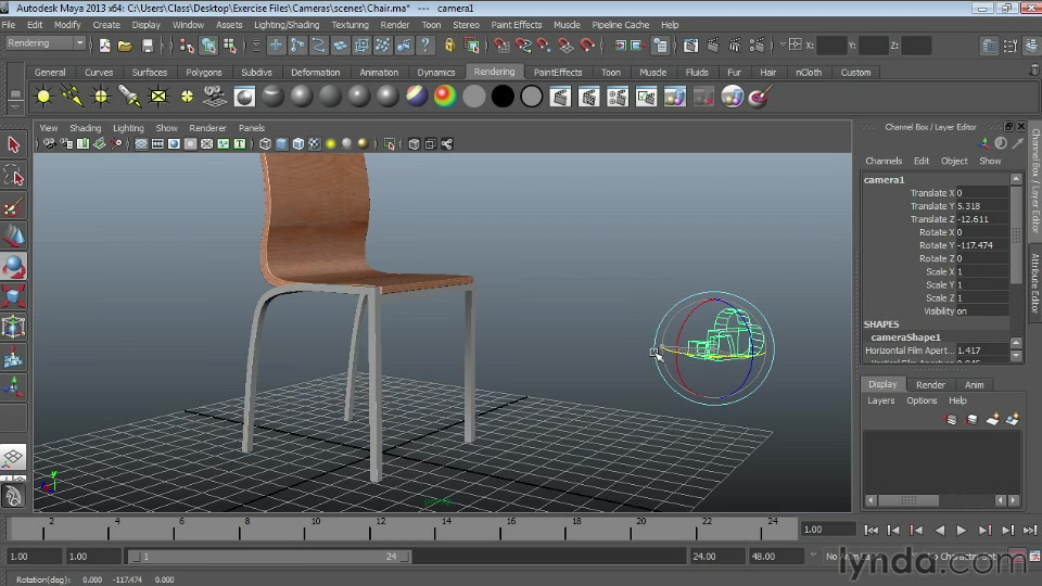 Maya 2013 Essential Training: 6 Lights and Rendering