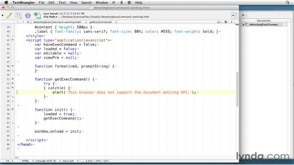 Detecting support: HTML5: Document Editing in Depth