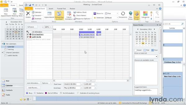 Inviting others to a meeting: Outlook 2010: Time Management with Calendar and Tasks