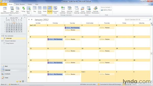 Creating and troubleshooting recurring meetings: Outlook 2010: Time Management with Calendar and Tasks