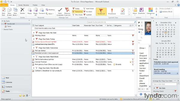 Understanding tasks, the to-do items, and the Daily Task List: Outlook 2010: Time Management with Calendar and Tasks