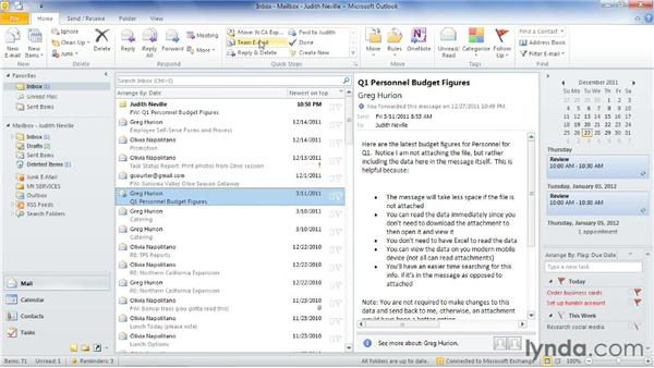 Using built-in Quick Steps: Outlook 2010: Time Management with Calendar and Tasks