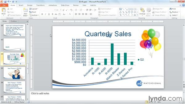 Sharing data with charts: PowerPoint Tips and Tricks for Business Presentations