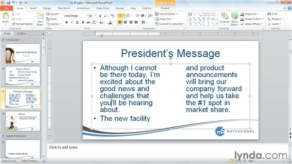 Enhancing text boxes: PowerPoint Tips and Tricks for Business Presentations
