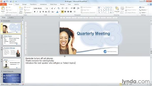 Utilizing speaker notes: PowerPoint Tips and Tricks for Business Presentations