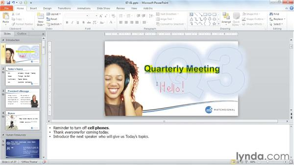 During the show: PowerPoint Tips and Tricks for Business Presentations
