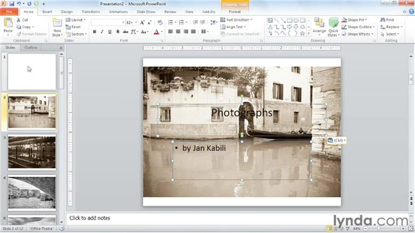 Creating a photo slideshow: PowerPoint Tips and Tricks for Business Presentations