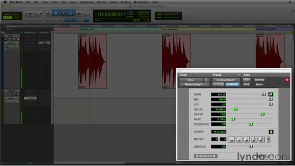 Get in the Mix: Modulation rate and depth: Foundations of Audio: Delay and Modulation