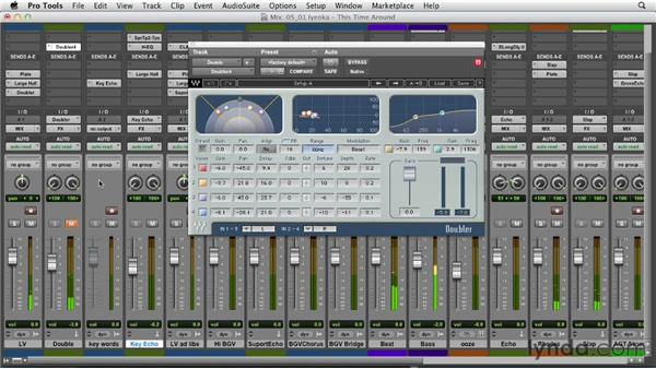 Using delays in a real-world mix: Foundations of Audio: Delay and Modulation