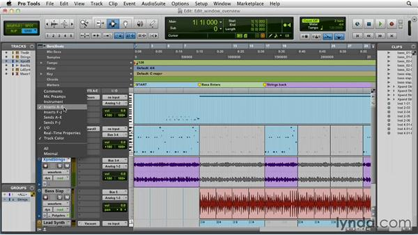 Exploring the Edit window: Pro Tools 10 Essential Training