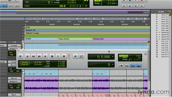 Exploring the Transport and Big Counter windows: Pro Tools 10 Essential Training