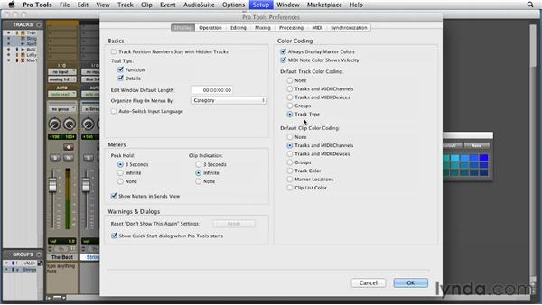 Using the Color palette and window arrangements: Pro Tools 10 Essential Training