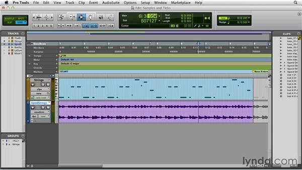 Understanding samples and ticks: Pro Tools 10 Essential Training