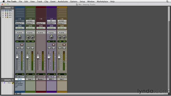Viewing and manipulating tracks: Pro Tools 10 Essential Training