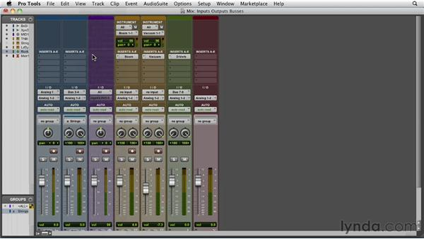 Selecting inputs, outputs, and busses: Pro Tools 10 Essential Training