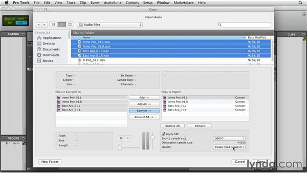 Importing audio: Pro Tools 10 Essential Training