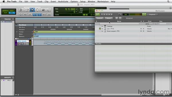 Importing MIDI: Pro Tools 10 Essential Training