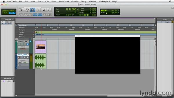 Importing video: Pro Tools 10 Essential Training