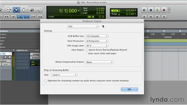 Recording audio: Pro Tools 10 Essential Training