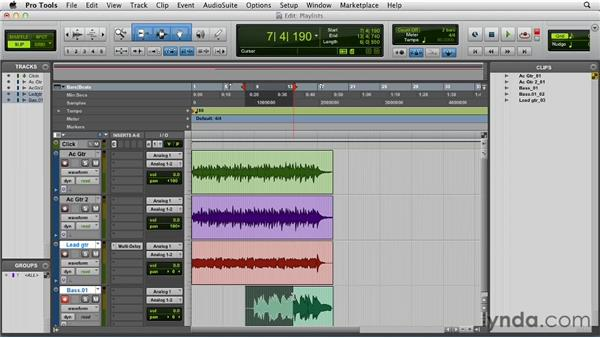 Recording with playlists and Loop Record: Pro Tools 10 Essential Training
