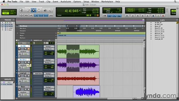 Creating a group: Pro Tools 10 Essential Training