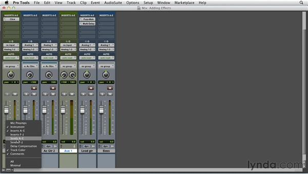 Adding effects while recording: Pro Tools 10 Essential Training