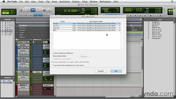 Assigning disk allocation: Pro Tools 10 Essential Training