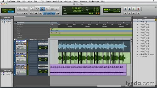 Understanding nondestructive editing and region types: Pro Tools 10 Essential Training