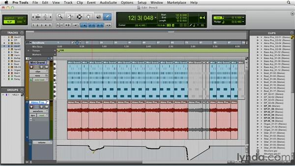 Using the Pencil tool: Pro Tools 10 Essential Training
