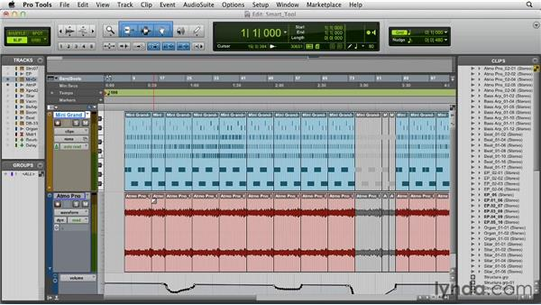 Using the Smart tool: Pro Tools 10 Essential Training