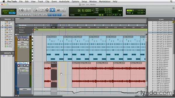 Understanding the Edit modes: Pro Tools 10 Essential Training