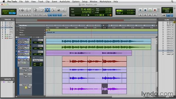 Building a comp track using playlists: Pro Tools 10 Essential Training
